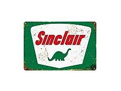 Sinclair Tin Metal Wall Decoration