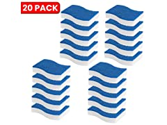 2-In-1 Duo Magic Eraser and Scrub Sponge, 20-Pack