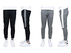 SlimFit French Terry Jogger w Stripe 2Pk