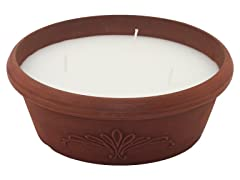 2pk Triple Wick Terracotta Citronella Candles