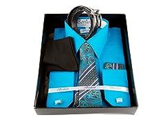 Berlioni Men's 6-Piece Dress Shirt & Accessories - XL