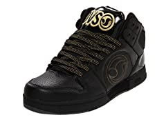 DVS Aces High Skate Shoes - Black/Gold