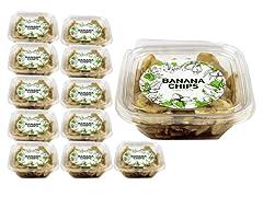 Banana Chips Mini Cube, 12 Pack