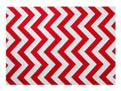 Chevron Placemat S/4-Red