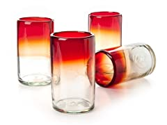 """Rioja Recycled Glasses - Set of 4 - 5.5"""" H"""