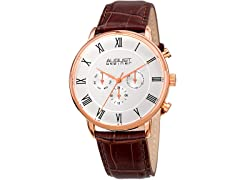 August Steiner Men's Swiss Quartz Multifunction Watch