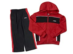 Fila Red/Black Fleece Set