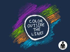 Color Outside the Lines Zip-Up Hoodie