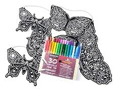 Stuff2Color 6 Die-Cut Butterflys (2 ea. of 3 designs)