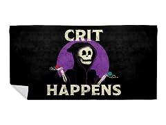 """Crit Happens"" Beach Towel"