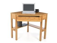 Bamboo Corner Desk