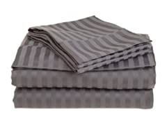 300 Thread Count Cotton Sateen Sheet Set  - Gray