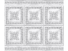 Ornamental Tin White Backsplash