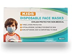 Kids Size Face Masks, Pack of 50
