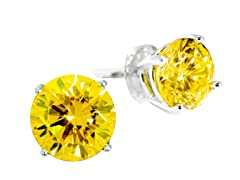 SS Golden Yellow 5cttw Earring