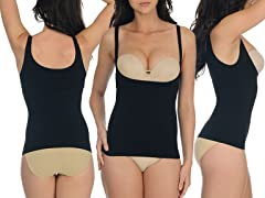 Braless Shaper Tank, Black