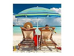 6.5-ft. Beach Umbrella w/ Sand Anchor: Your Choice