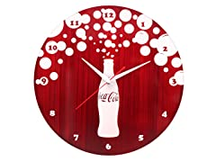 Coca-Cola® Brushed Metal Wall Clock