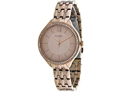 Fossil Suitor RG Stainless Steel Ladies