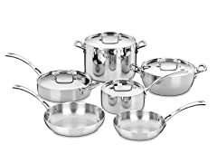 Cuisinart French 10-Pc Stainless Cookware Set