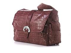 Kalencom Buckle Bag - Wine Crocodile