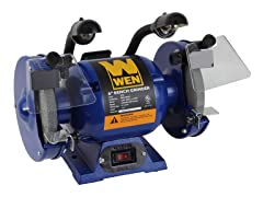 6-Inch Bench Grinder with Dual Lights