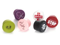 Reusable Wine Caps - 6-Pack Assorted