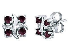 SS Rhodaline Garnet X Earrings