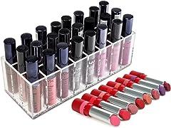 24 Spaces Acrylic Lipstick Organizer