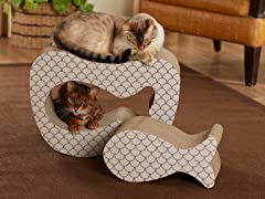 Copy Cat Cardboard Cat Scratcher - Taupe