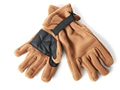 Fleece Gloves for Him - Brown
