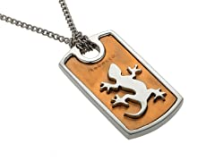 Gecko Two-Tone Pendant