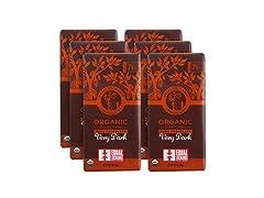 Equal Exchange Organic Very Dark Chocolate, 6 Pack