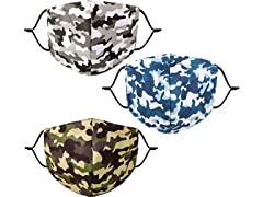 Reusable Cotton Face Masks (Camo 3-Pack)
