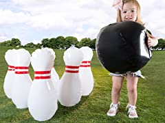 Kids Giant Inflatable Bowling Set