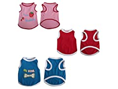 3 Pk Pet Tank Tops - 6 Sizes