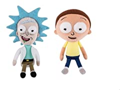 2 Piece Funko Rick & Morty Plush Figures