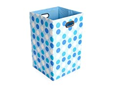 Sky Dots Canvas Folding Laundry Bin