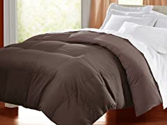 Egyptian Cotton Down Alternative Comforter - Chocolate