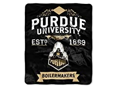 Purdue 50x60 Raschel Throw