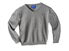 V-Neck Sweater - Grey (3T-7)