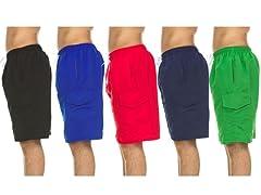 Men's Solid Swim Shorts w/ Cargo Pocket