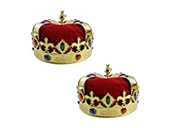 Gold King Crown for Kids - 2 Pack