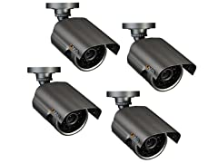 Weatherproof 480TVL Cameras with 60' Night Vision - 4pk