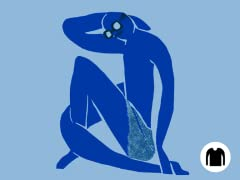 Blue (Never)Nude LS tee