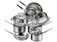 T-fal Tri-Ply Stainless12Pc Cookware Set