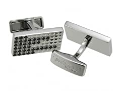 Stainless Steel & Diamond Cufflinks