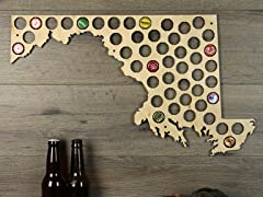 Beer Cap Map: Maryland