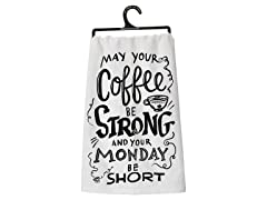 Primitives By Kathy Dish Towel - Coffee Be Strong
