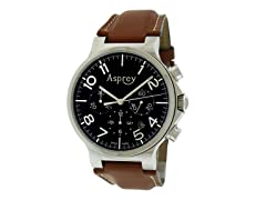 No 8 Round Stainless Steel Watch